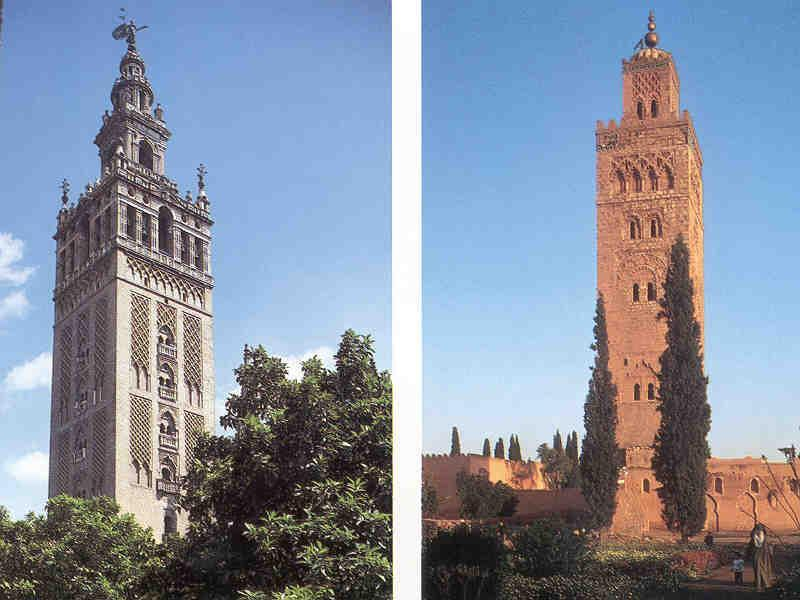 Giralda Tower and Kutubiyyaa Minaretes, Muslim Spain